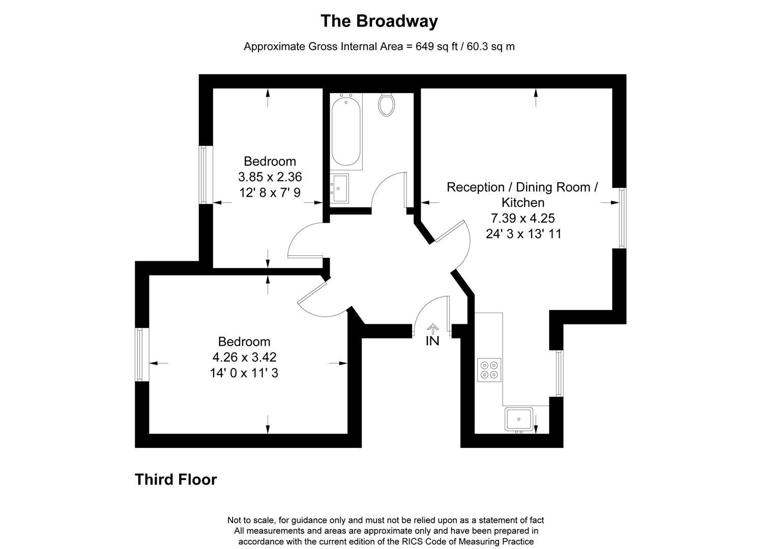 Floorplan for The Broadway, Wimbledon